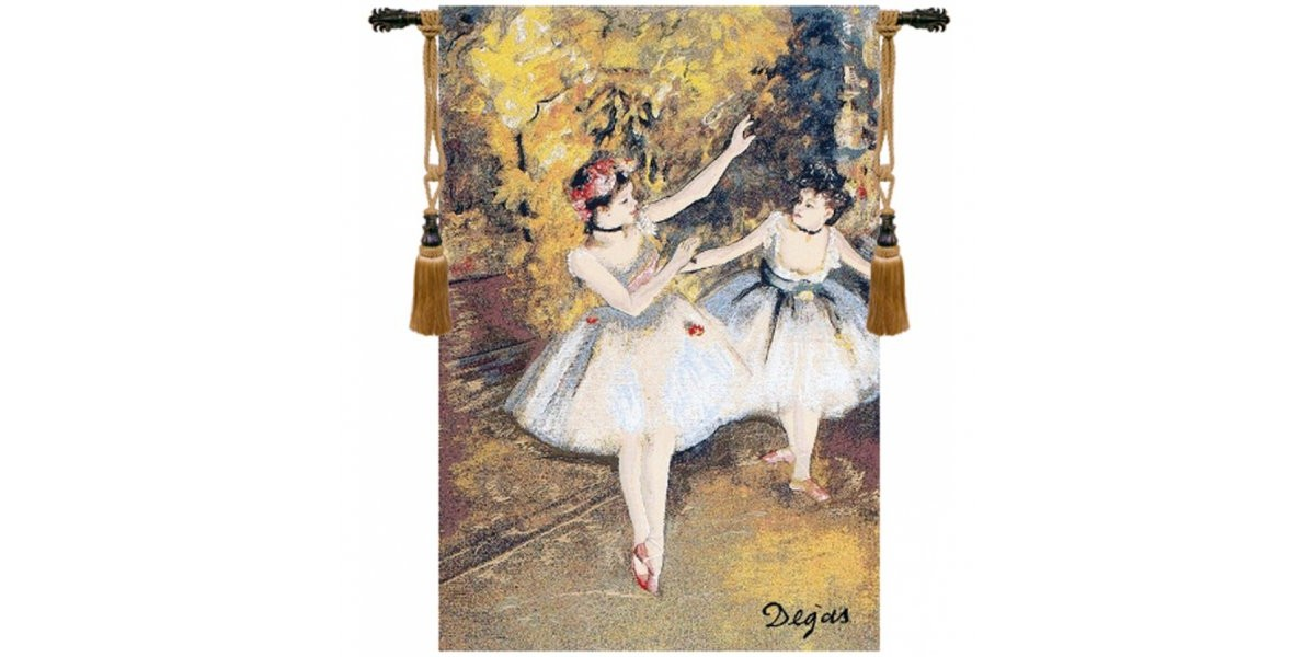 Gobelín  - Les 2 danseuses by Edgar Degas