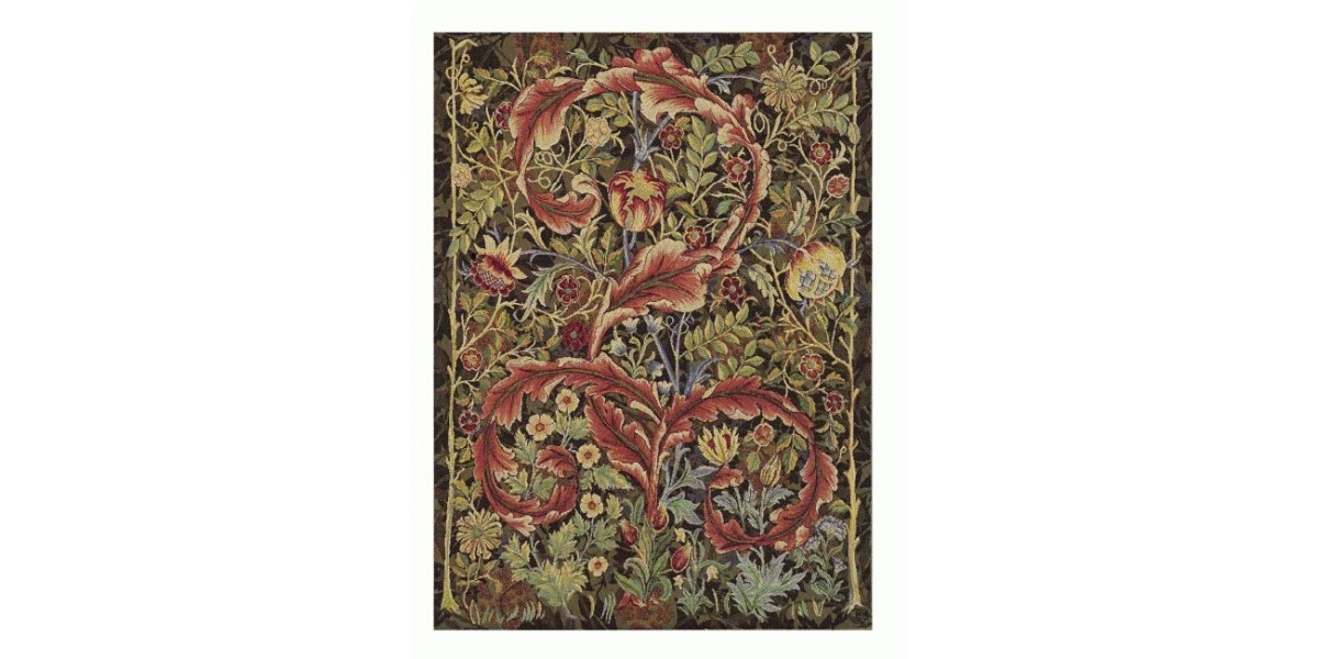 Gobelín  -  ACANTHUS  fond marron by William Morris - 1898