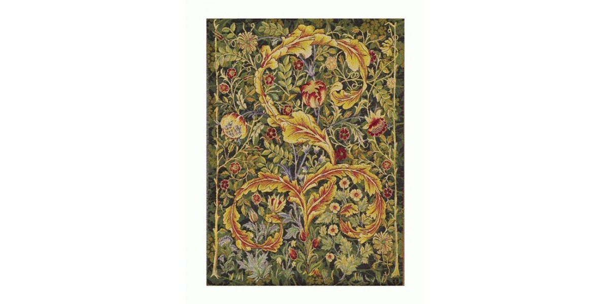 Gobelín  -  ACANTHUS  fond vert by William Morris - 1898