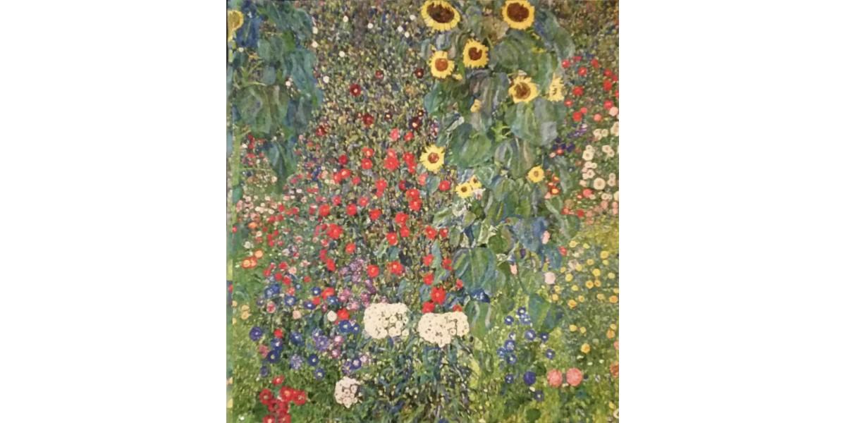 Gobelín  -  Flower Garden by Gustav Klimt