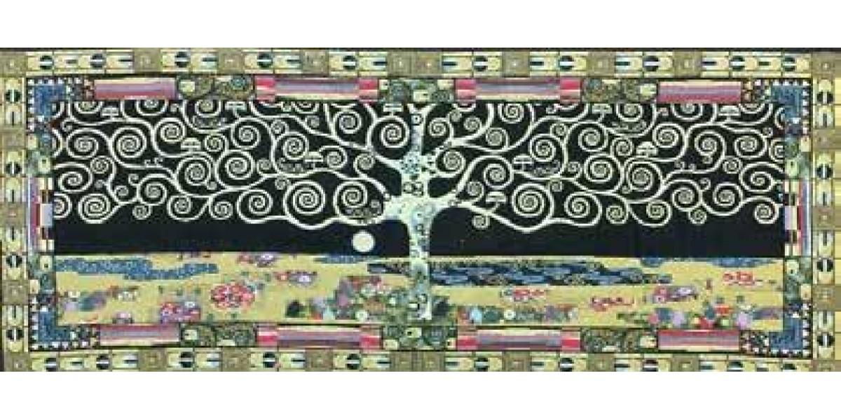 Gobelín tapiserie  - Arbre de Vie Black by Gustav Klimt