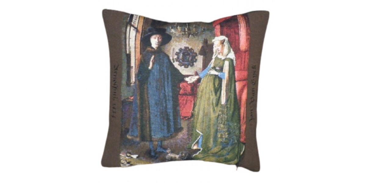 Gobelínový povlak na polštář - Banker Arnolfini by Jan van Eyck