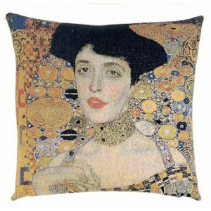 Gobelínový povlak na polštář  -  Lady in Gold  by Gustav Klimt
