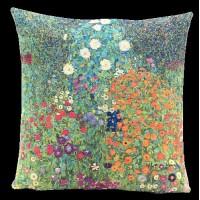 Gobelínový povlak na polštář  - Garden II on Attersee by Gustav Klimt