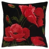 Gobelínový povlak na polštář - Poppies Blac