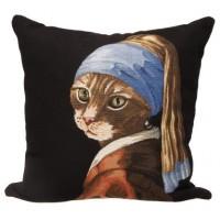Gobelínový povlak na polštář  - Cat with pearl