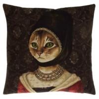 Gobelínový povlak na polštář  - Cat with hat