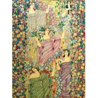 Gobelín tapiserie -  Primavera  by Galileo Chini