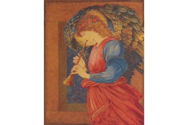 Gobelín  -  Ange au Flageolet by William Morris