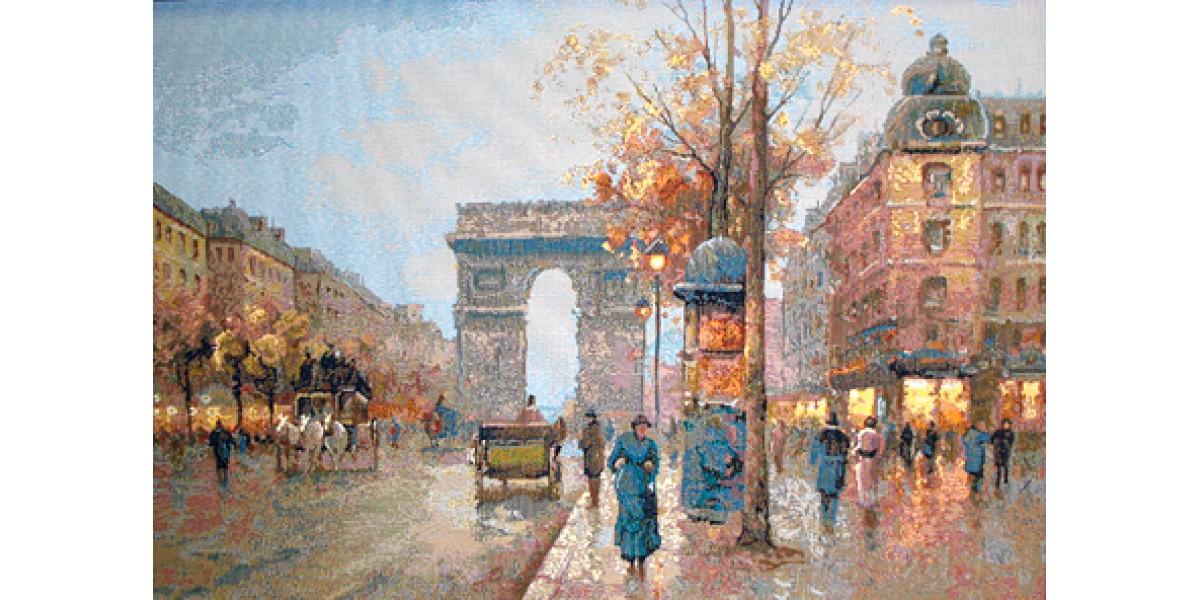 Tapisérie k zarámování  -  Vítězný oblouk bulvár Champs-Élysées