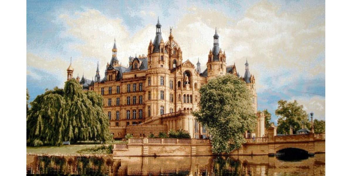 Tapisérie k zarámování  - Schweriner Schloss (Zvěřínský zámek)