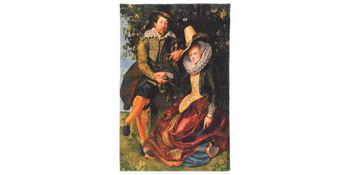 Gobelín  -  Rubens a Isabella Brant