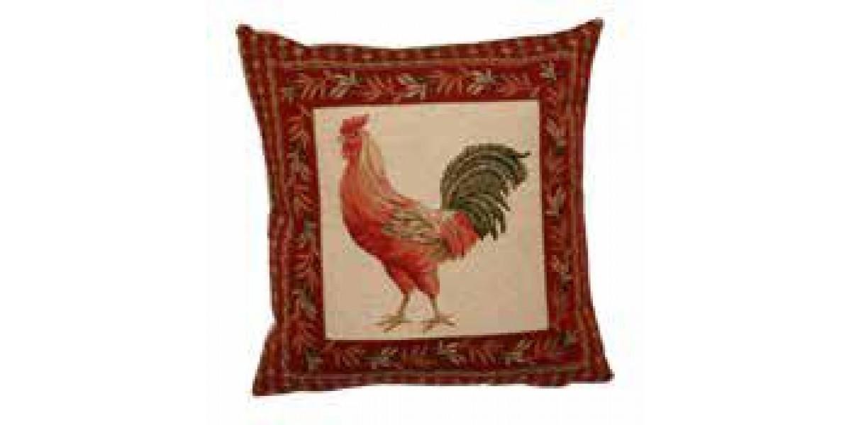 Gobelínový povlak na polštář - Monsieur coq rouge