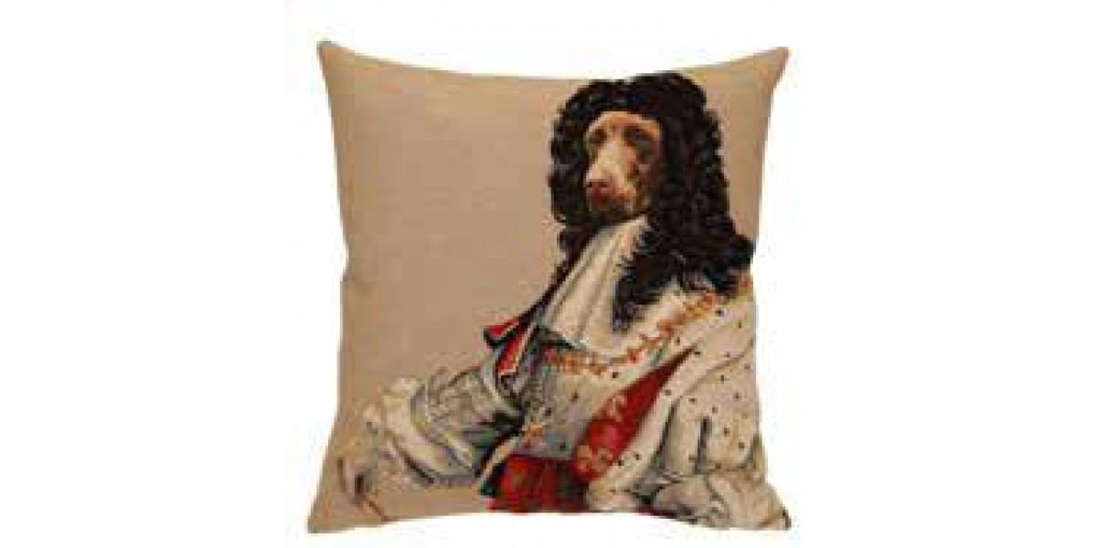 Gobelínový povlak na polštář - Chien Louis XIV