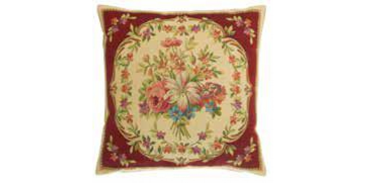 Gobelínový povlak na polštář - Les bouquets I