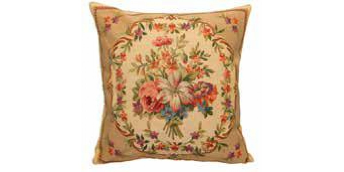 Gobelínový povlak na polštář - Les bouquets II