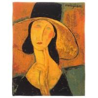 Gobelín  - Femme au chapeau by MODIGLIANI