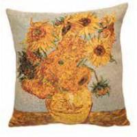 Gobelínový povlak na polštář  - Tournesols by Vincent van Gogh