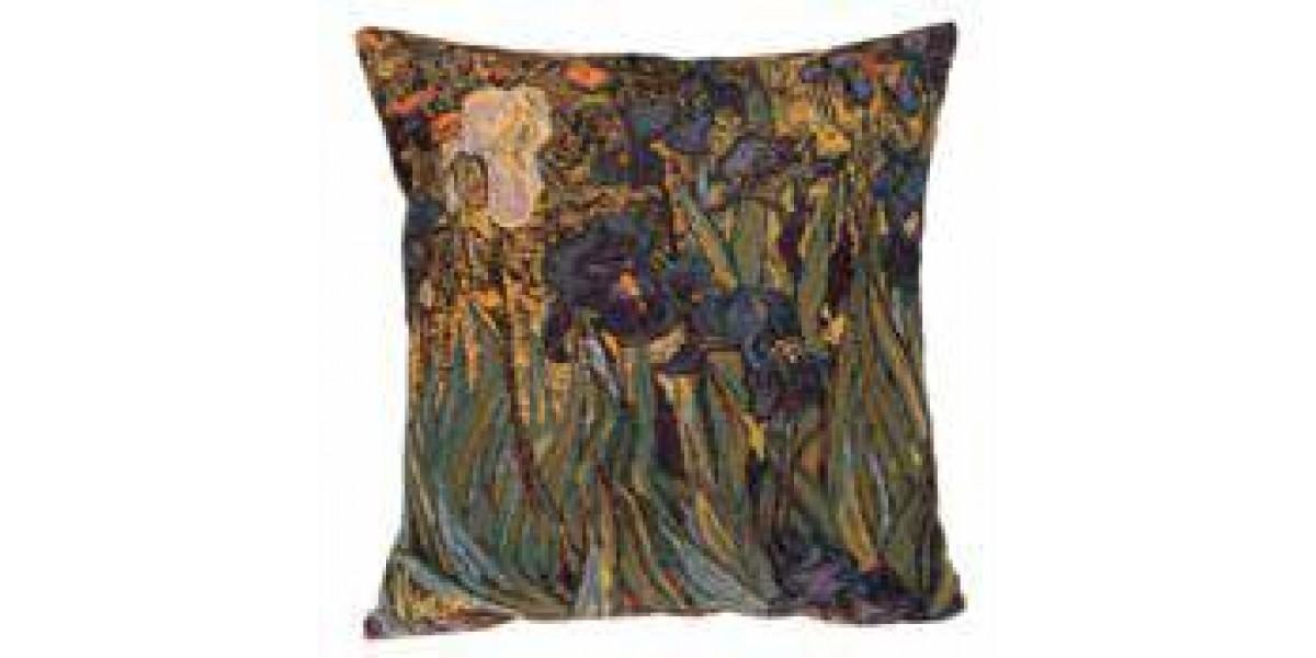 Gobelínový povlak na polštář  - White IRIS  by Vincent van Gogh