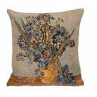 Gobelínový povlak na polštář  - Vase Iris by Vincent van Gogh