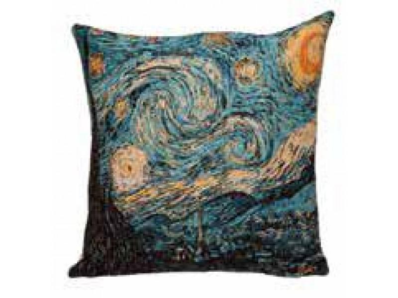 Gobelínový povlak na polštář  - STARRY NIGHT by Vincent van Gogh