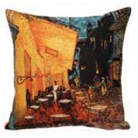 Gobelínový povlak na polštář  - Night cafe by Vincent van Gogh