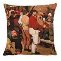 Gobelínový povlak na polštář - Le repas de noce by PIETER BRUEGEL LANCIEN