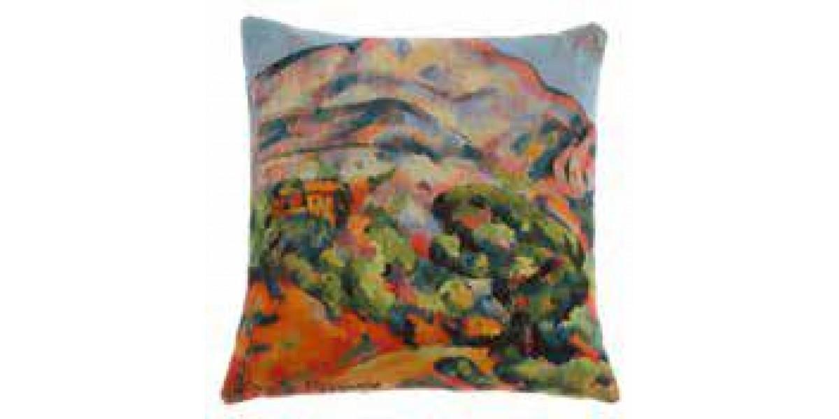 Gobelínový povlak na polštář  - Montagne Sainte Victoire by Paul Cezanne