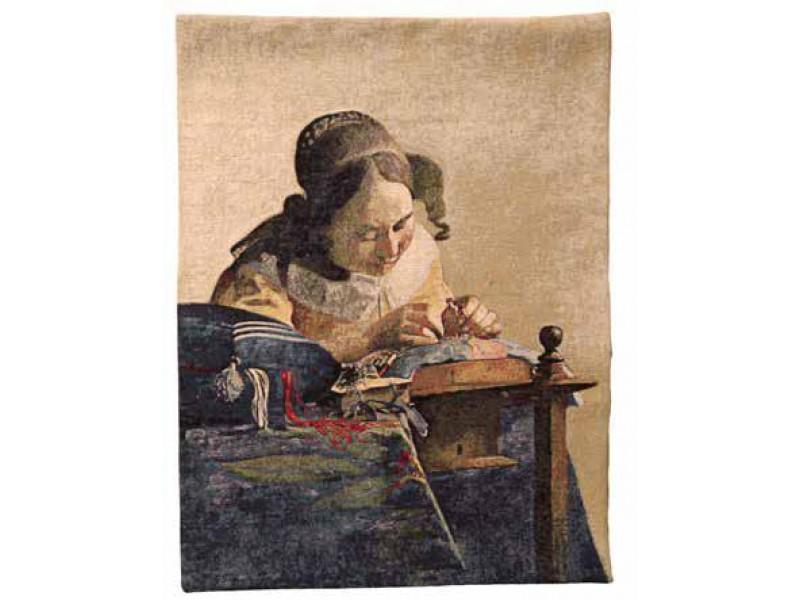 Gobelín  - La Dentellière by Vermeer