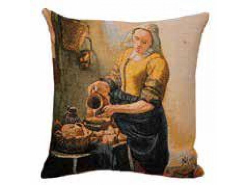 Gobelínový povlak na polštář  - La Laitière by Vermeer