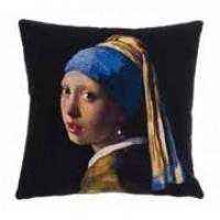 Gobelínový povlak na polštář  - Girl with a Pearl Earring by Vermeer