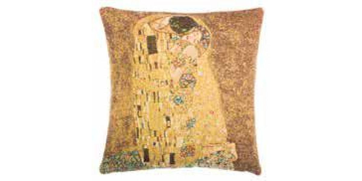 Gobelínový povlak na polštář  - Le Baiser by Gustav Klimt