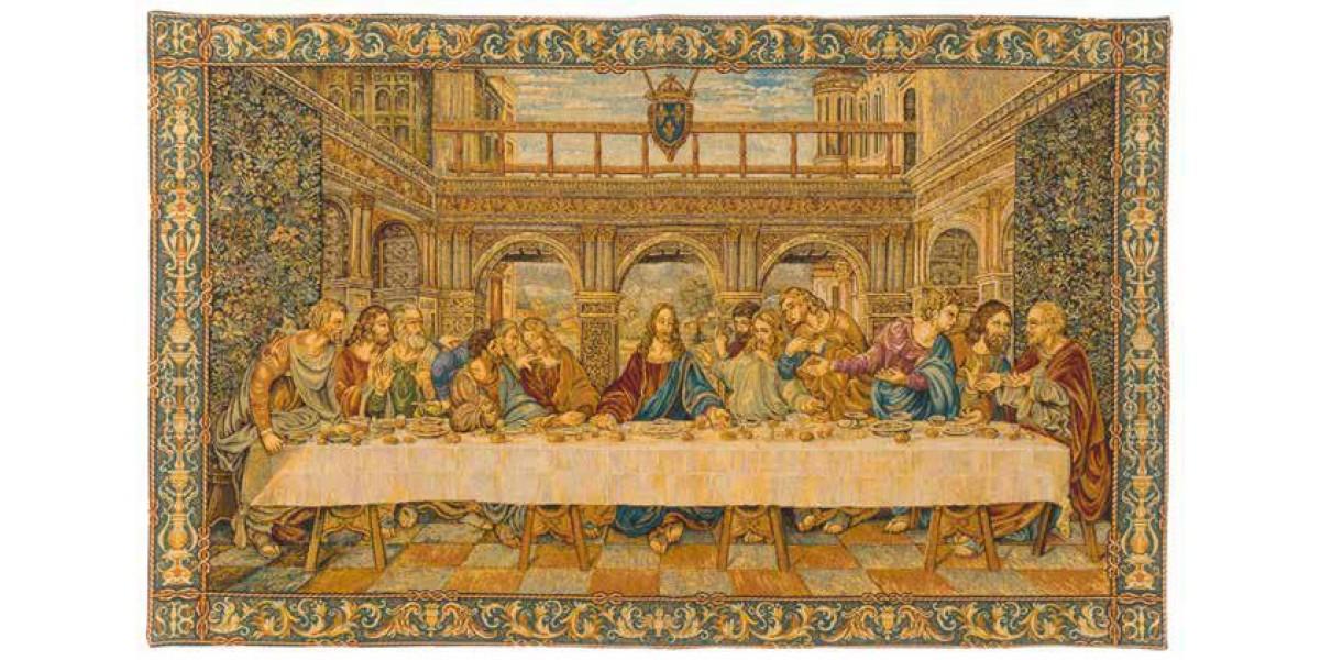 Gobelín  - La dernière scène  II by Leonardo Da Vinci