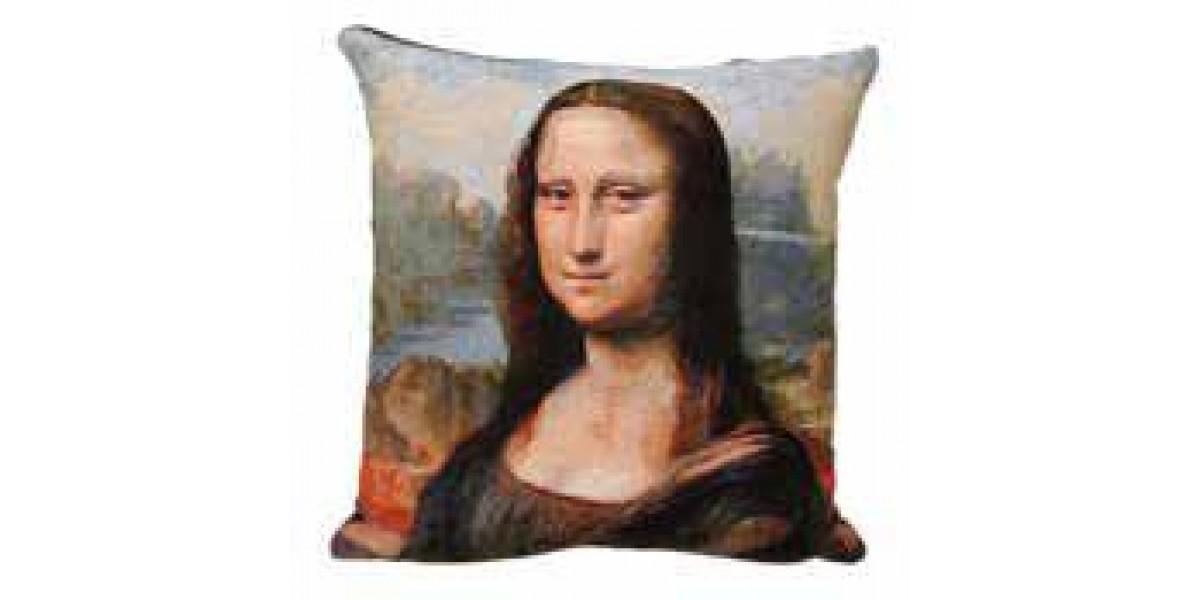 Gobelínový povlak na polštář - Mona Lisa by LEONARDO DA VINCI