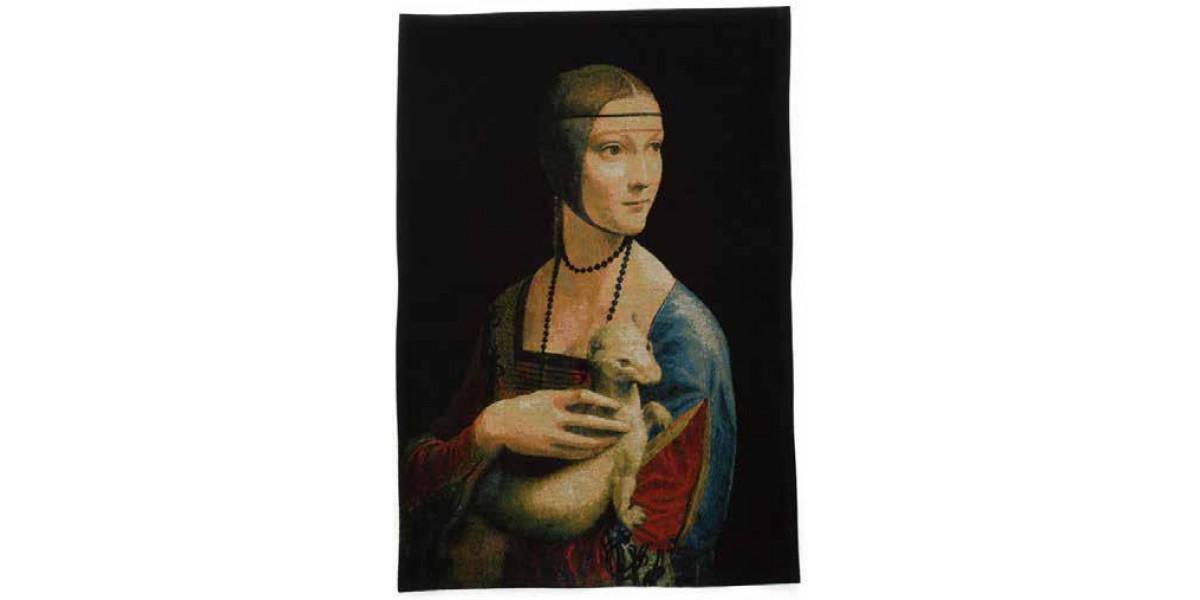 Gobelín  - Dame à l'hermine by Leonardo Da Vinci
