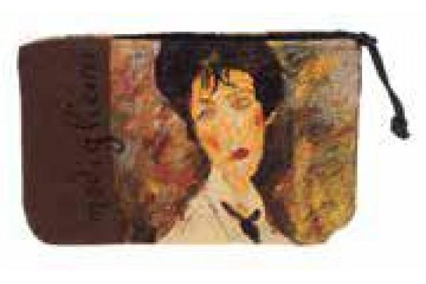 Kosmetická taška  - Femme à la cravate noire by AMADEO MODIGLIANI