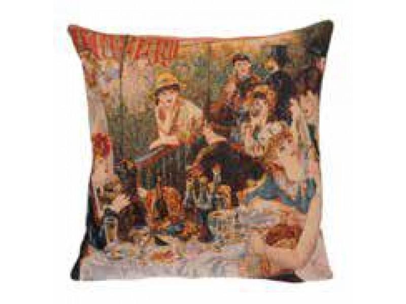 Gobelínový povlak na polštář  - Déjeuner des canotiers by Renoir