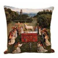 Gobelínový povlak na polštář  - L'adoration by Jan van Eyck