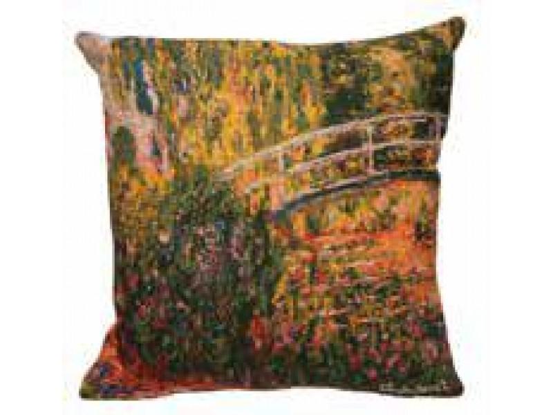 Gobelínový povlak na polštář  - Pont de Giverny multico by Monet