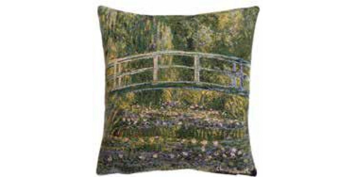 Gobelínový povlak na polštář  - Pont de Giverny by Monet