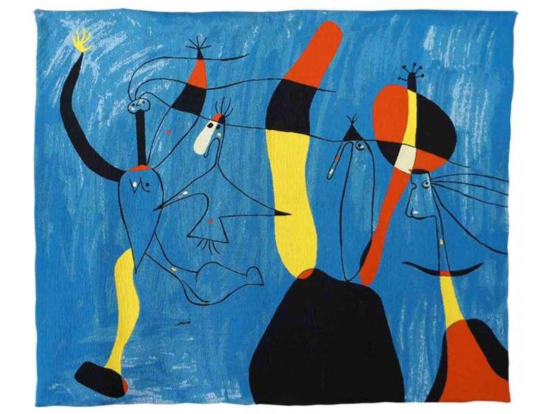 Gobelín  - Pour pilar de tout Ceur by Miro ( rok 1939 )