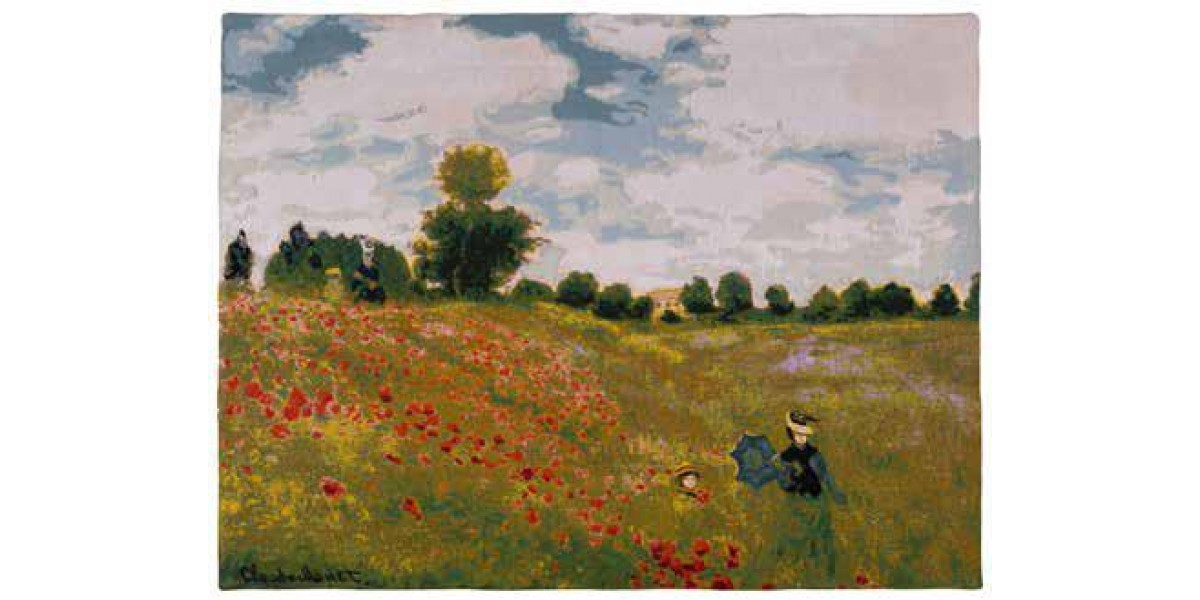 Gobelín  - Coquelicots  by Monet