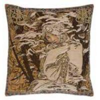 Gobelínový povlak na polštář - Vinter by Alfons Mucha