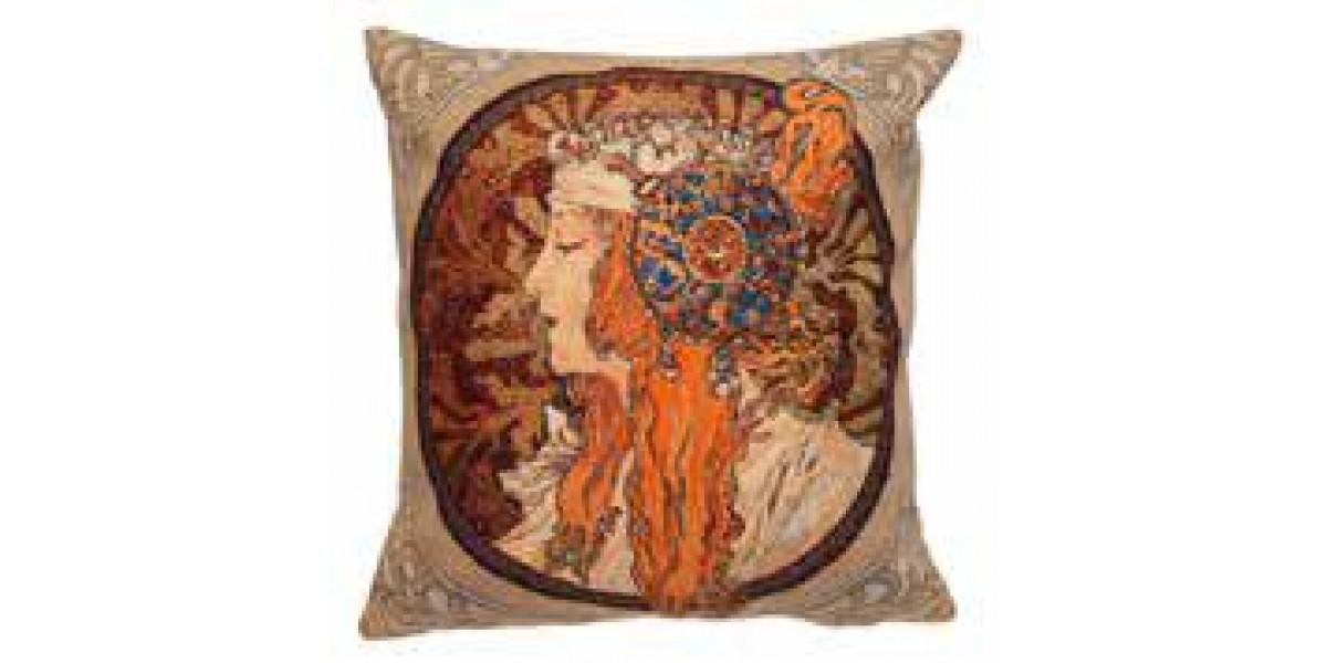 Gobelínový povlak na polštář  - Rousse Byzantine by Alfons Mucha